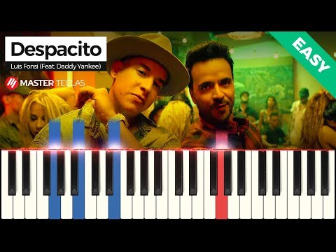 💎 Despacito Easy - Luis Fonsi Feat Daddy Yankee  Piano Tutorial 💎