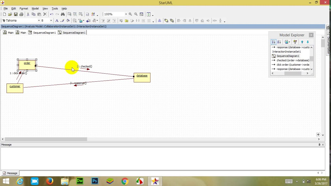 hight resolution of how to convert sequence diagram into collaboration diagram