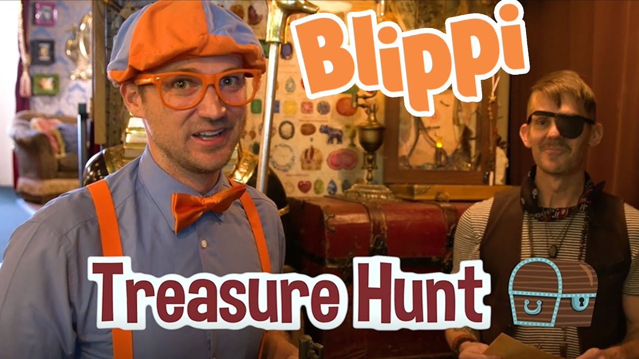 Blippi Goes On A Treasure Hunt | Learning Colors, Shapes & More For Kids | Kids TV Shows