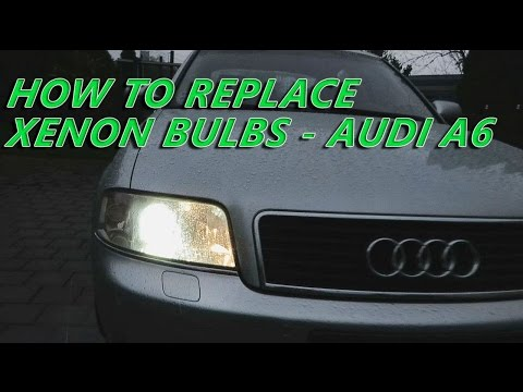 AUDI A6 C5 1997-2004  XENON BULBS Replacement – How To Remove Xenon Bulbs From Audi A6