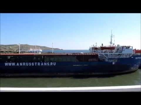 Как загружают вагоны на паромы и корабли