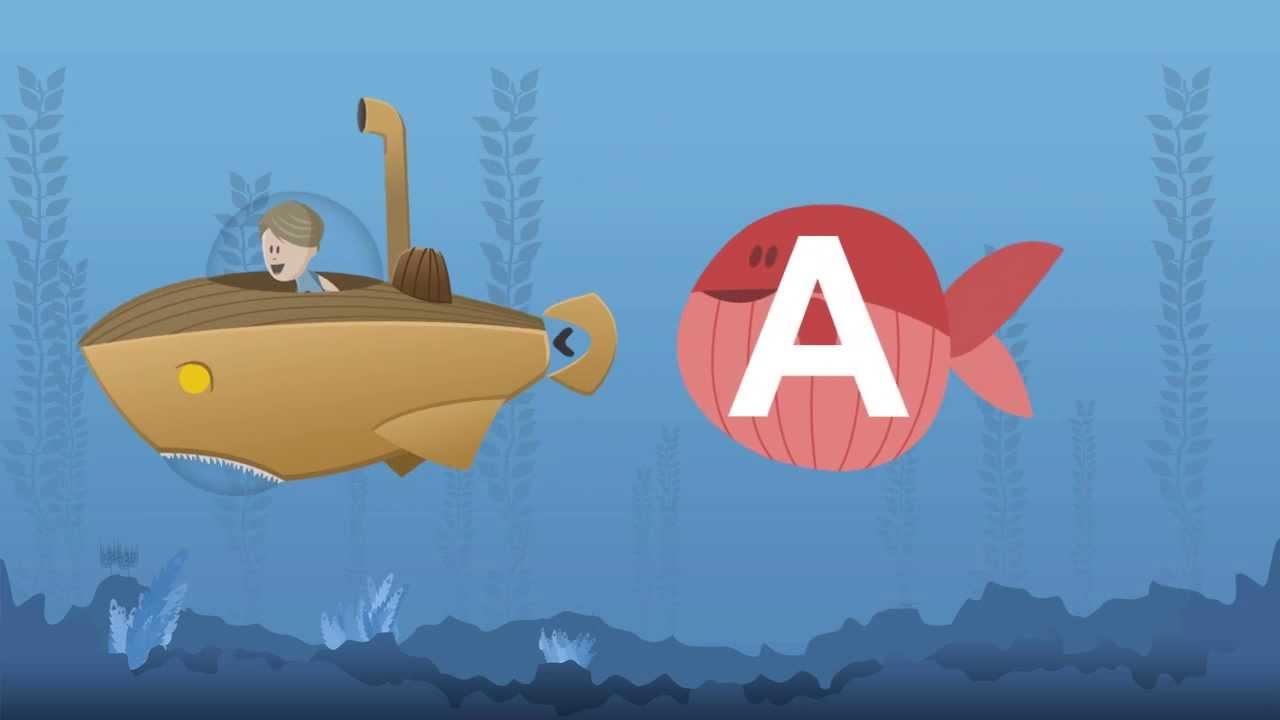 kinder lernen die buchstaben des alphabets mit arians