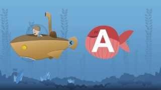 Kinder lernen die Buchstaben des Alphabets mit Arians Reisen