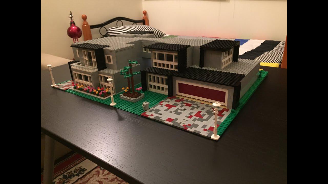 Moc Lego Modern Mansion Youtube