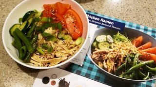 Chicken Ramen Vegetable Blue Apron Meal Cooking at Home