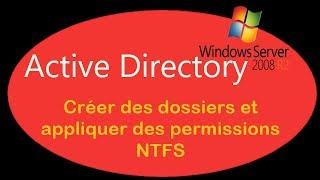 Active Directory - 09. Créer des dossiers et appliquer des permission NTFS - T2SI