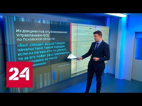 ФСБ частично рассекретило документы о зверствах эстонских карателей под Псковом - Россия 24