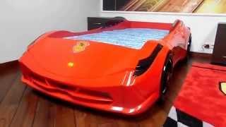 Детская кровать машина Ferrari F1 Aero Spider(Видео детской кровати машины Ferrari F1 Aero Spider со звуком и светом фар. Интернет магазин детской мебели deti-meb.ru., 2015-09-09T13:48:52.000Z)