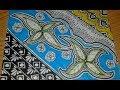 Menggambar Batik Motiv Flora dan zentangle
