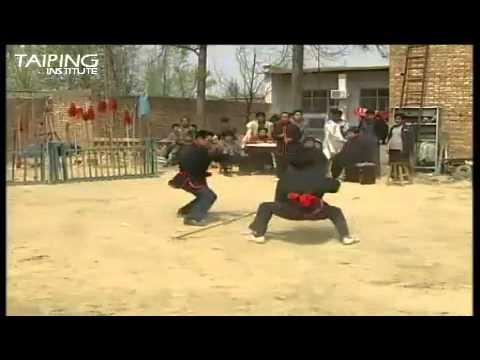 Yihe Quan - Staff Vs 2-section Staff  [义和拳 - 杆子对练]