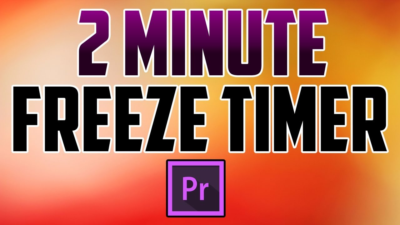 how to add a timer to adobe premiere video