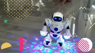 ONERIOME  Dancing Robot Toys With Lights and Fantastic Music Toddler Multifunctional LED Smart Robot