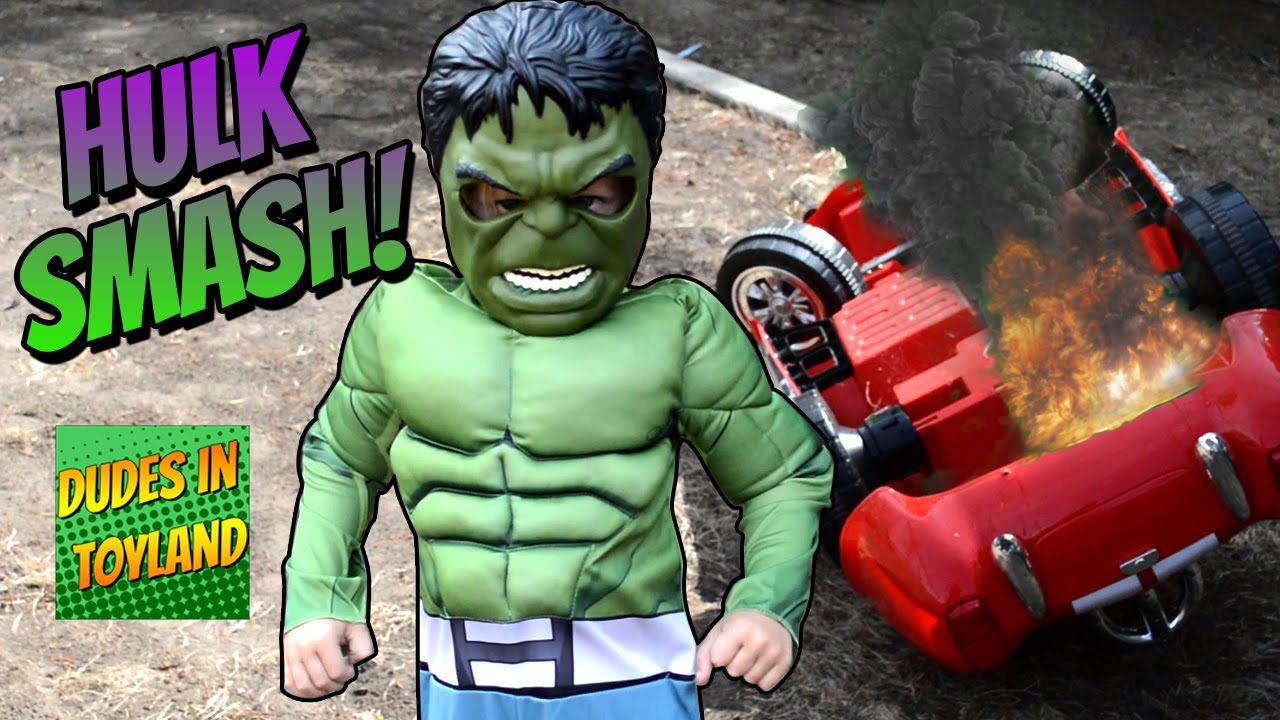 Uncategorized Hulk Videos For Kids hulk smash the incredible kid power wheels super hero toys toddler costume youtube