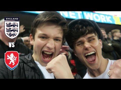 ENGLAND vs CZECH REPUBLIC vlog - MASSIVE WIN with MIKEY from RoadTrip TV