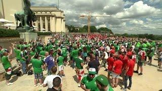 Победителями среди болельщиков по негласному голосованию стали фанаты из Ирландии.