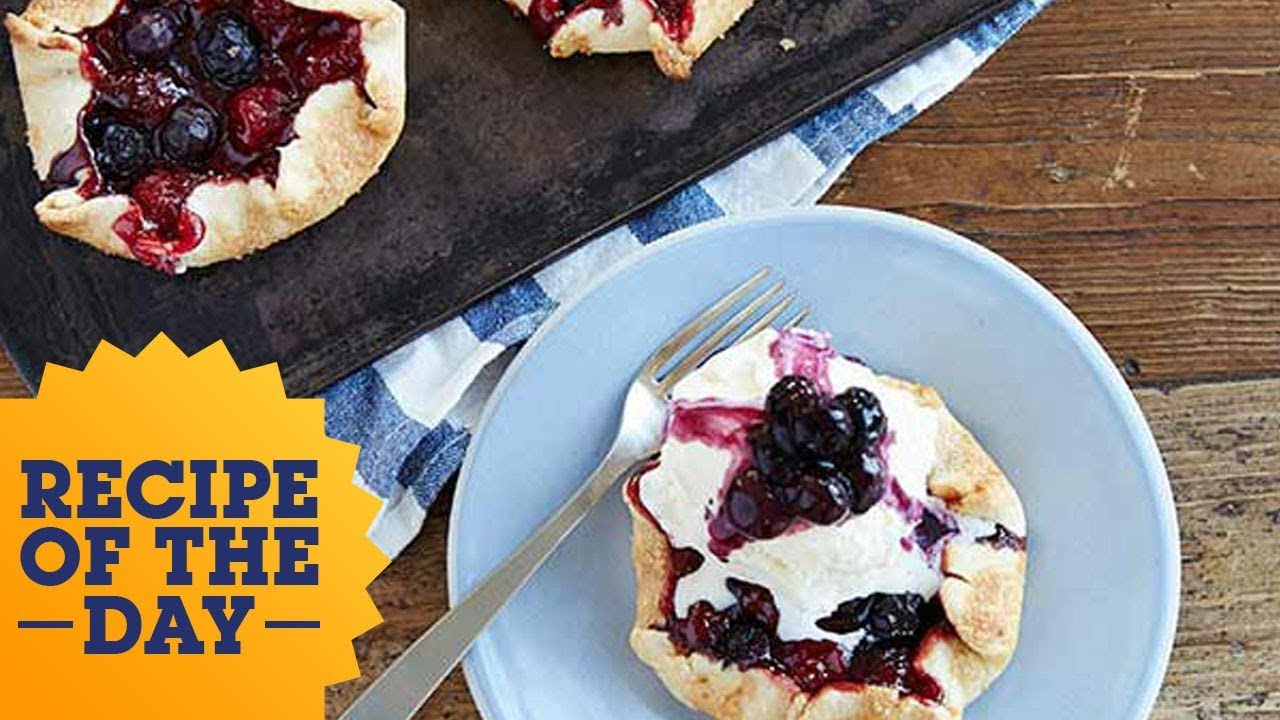 Recipe of the Day: Red, White and Blue Cherry Pies | Food Network