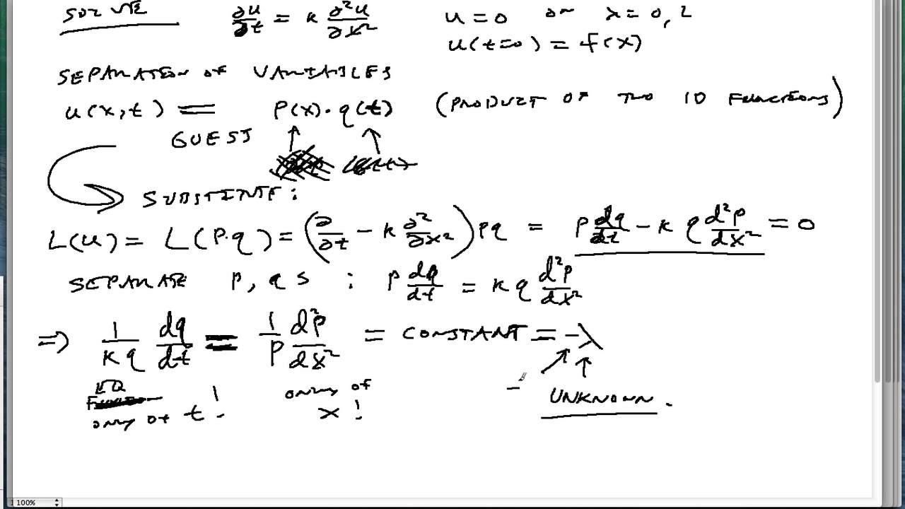 26-Solving 1D heat equation with zero-temperature boundaries