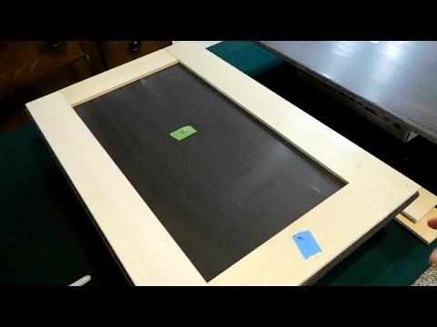Diy Flat Beveled Edge Doors To Shaker Style Cabinet Doors Youtube