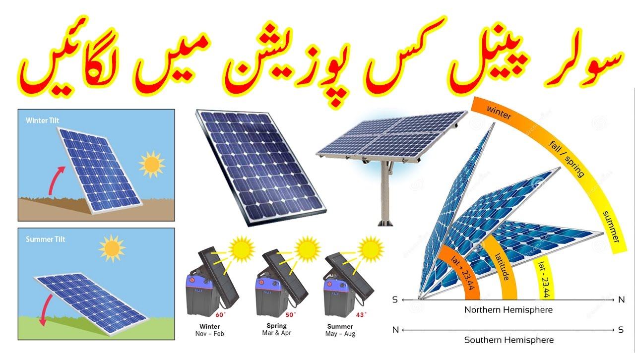 How To Install Solar Panels At The Correct Angle Urdu Hindi By Zakria 2017 Youtube