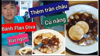 Review bánh Flan Diva cùng Ngọc Huyền tại chi nhánh mới bánh tráng trộn Diva Cát Thy