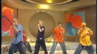 N Sync perform Tearin