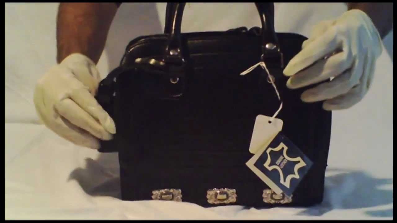 Globalfashionking Mc Marc Chantal Leather Western Black Purse