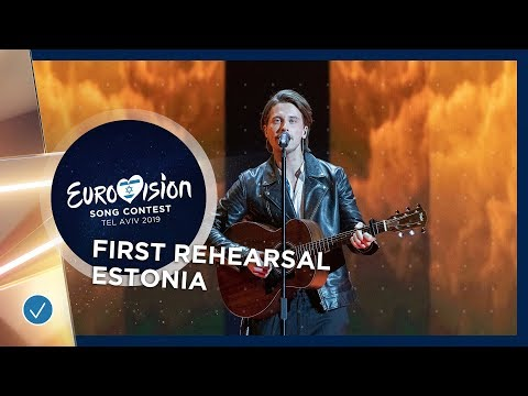 Estonia 🇪🇪 - Victor Crone - Storm - First Rehearsal - Eurovision 2019