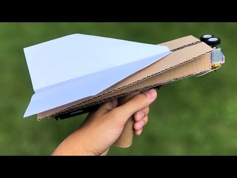 How to Make Paper Airplane Launcher from Cardboard
