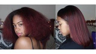 3c/4a Natural Hair   How I Straighten/Silk Press *UPDATED*
