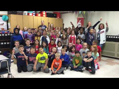 Mississippi Elementary School 3rd graders sing Twins Win song!