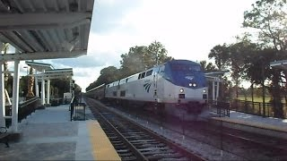 Amtrak Auto Train Passes New Sunrail Commuter Rail Station