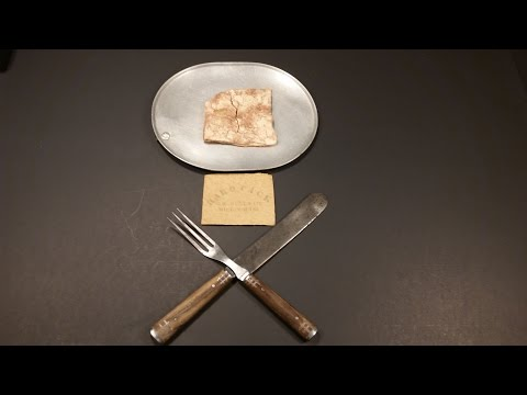 1863 American Civil War Hardtack Oldest Cracker Ever Eaten Military MRE Food Review Tasting Test