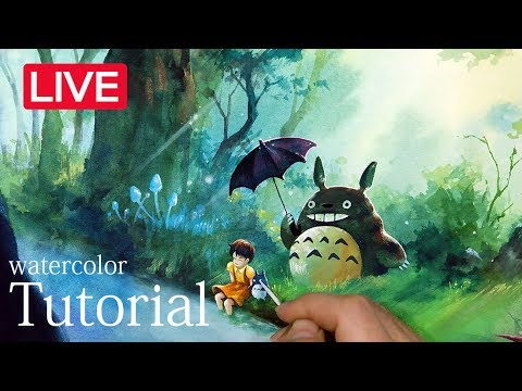 토토로페인팅-totoro drawing-Totoro watercolor illustration -となりの トトロ-[zazac namoo]