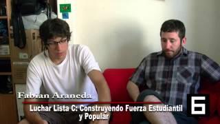 Repeat youtube video Candidato FECh 2013 Fabian Araneda Entrevista Canal 6