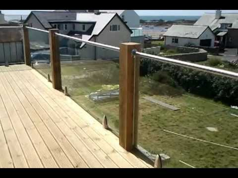 Glass And Wood Post Balcony System Using The Model 6000