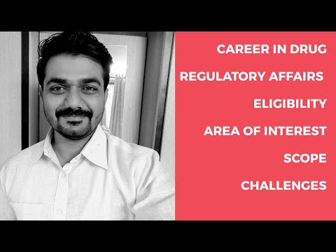 Job Opportunities In Drug Regulatory Affairs-Career In Pharmacy (Part 4)/ Amit Mane