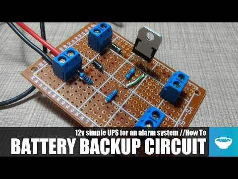 12v Battery Backup (UPS): 4 Steps