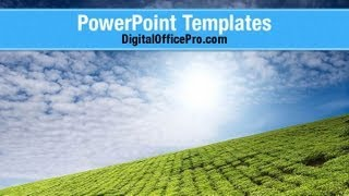 Tea Plantation PowerPoint Template Backgrounds - DigitalOfficePro #06526W