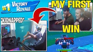 Tfue Helps MrBeast get his *FIRST WIN* in Fortnite Then Gets KIDNAPPED!!