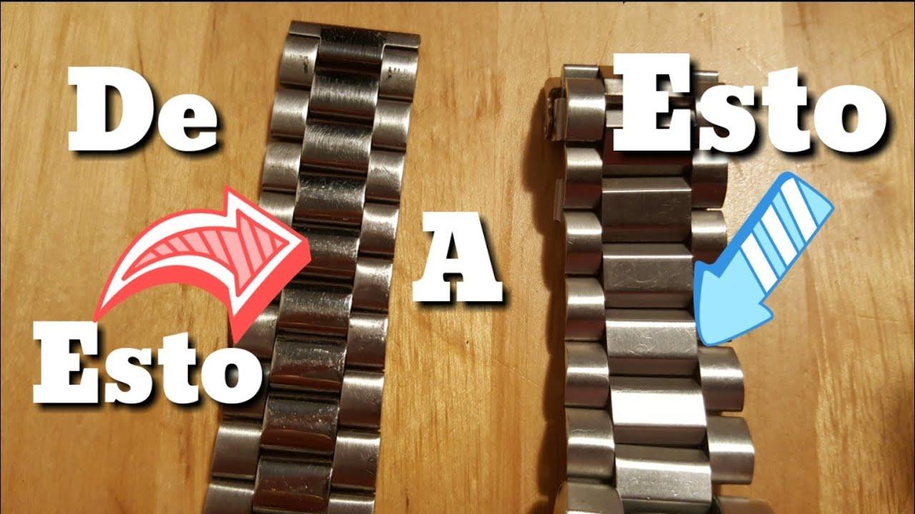 Como pulir el ARMIS (correa) de un reloj quitamos los micro