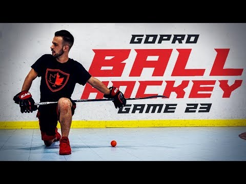 WHAT A SAVE! GOPRO BALL HOCKEY GAME 23