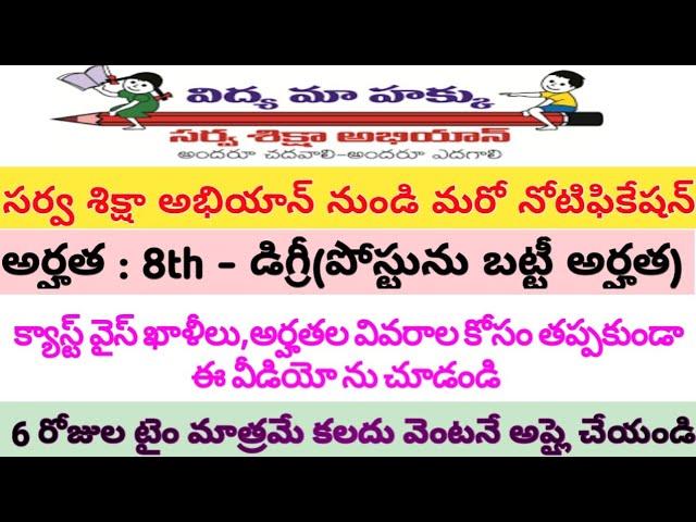 AP SSA Recruitment // Caste Wise Vacancies List // ???? ?????? ??????? ??????? ???????