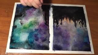 DIY: КАК НАРИСОВАТЬ КОСМОС АКВАРЕЛЬЮ(How to draw starry night sky)(Группа ВК: https://vk.com/zebra3296., 2015-11-26T14:24:02.000Z)