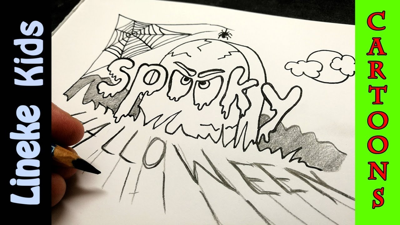 Halloween Tekeningen Maken.Hoe Teken Je Spooky Halloween Letters Leuk En Makkelijk