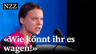 Greta Thunbergs bewegende Rede am Uno-Klimagipfel