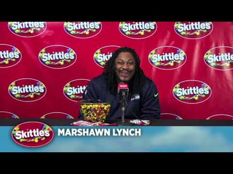 Marshawn Lynch Skittles Interview Media Day Super Bowl XLIX Awesomer