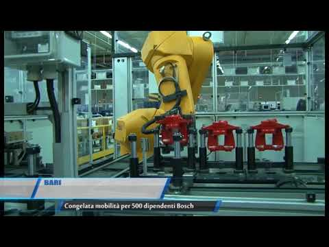 Bari | Congelata mobilità per 500 dipendenti Bosch | TG Teleregione 08 09 2017