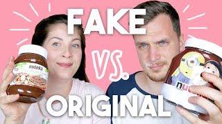 FAKE VS. ORIGINAL   Süßigkeiten Taste Test   JackieLina
