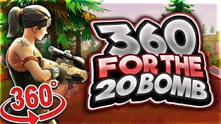360 SNIPER NOSCOPE FOR THE 20 BOMB! (Two 20 Kill Fortnite Gameplays) thumbnail