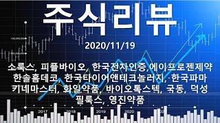 주식리뷰 드뎌 단타실패 소룩스, 피플바이오, 한국전자인…